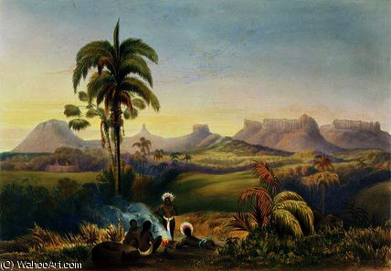 Roraima, a Remarkable Range of Sandstone by Charles Bentley (1805-1854, United Kingdom) | Oil Painting | WahooArt.com
