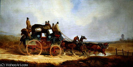 The London to Louth Royal Mail by Charles Cooper Henderson (1803-1877, United Kingdom) | Oil Painting | WahooArt.com