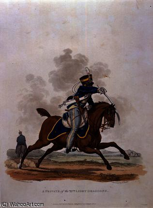 A Private of The 13th Light Dragoons by Charles Hamilton Smith (1776-1859, Belgium) | Art Reproduction | WahooArt.com
