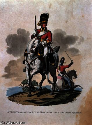 A Private of the 2nd, or Royal Northern British by Charles Hamilton Smith (1776-1859, Belgium) | Museum Quality Reproductions | WahooArt.com