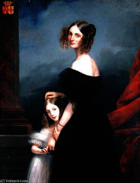 Portrait of Anne-Louise Alix de Montmorency by Claude Marie Paul Dubufe (1790-1864) | Paintings Reproductions Claude Marie Paul Dubufe | WahooArt.com