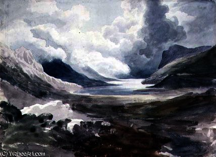 Order Art Reproductions | Llyn gwynant, north wales by Cornelius Varley (1781-1873, United Kingdom) | WahooArt.com
