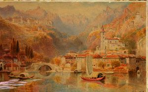 Ebenezer Wake Cook - Lake lugano