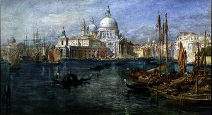 Edward Angelo Goodall - St. Maria della Salute, Venice on