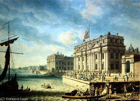 Greenwich hospital by Edward Dayes (1763-1804, United Kingdom) | Art Reproduction | WahooArt.com