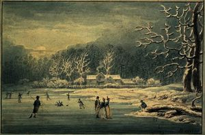 Edward Dayes - Hyde Park in the Snow,
