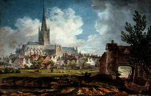 Edward Dayes - Norwich Cathedral from the South-East