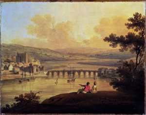 Order Oil Painting : Rochester,, 1799 by Edward Dayes (1763-1804, United Kingdom) | WahooArt.com