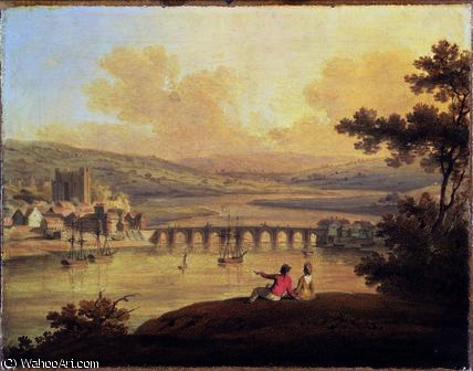 Rochester,, 1799 by Edward Dayes (1763-1804, United Kingdom) | Oil Painting | WahooArt.com
