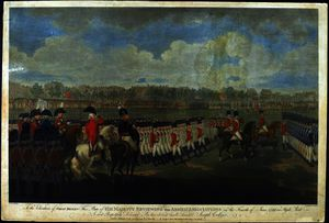 Order Art Reproduction : The King reviewing the Armed Association by Edward Dayes (1763-1804, United Kingdom) | WahooArt.com