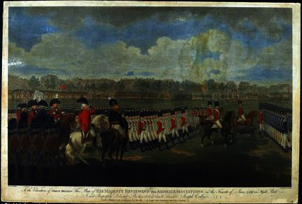 The King reviewing the Armed Association by Edward Dayes (1763-1804, United Kingdom) | Art Reproduction | WahooArt.com