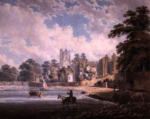 Edward Dayes - The River Thames at Putney