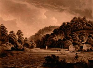 Edward Dayes - View at Redbrook in the River Wye