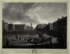 Edward Dayes - View of Hanover Square, engraved by Robert Pollard
