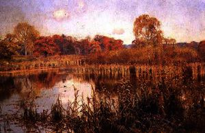Edward Wilkins Waite - Autumn glow