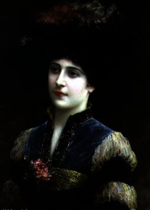 Lady in a Hat by Emile Eisman Semenowsky (1859-1911)