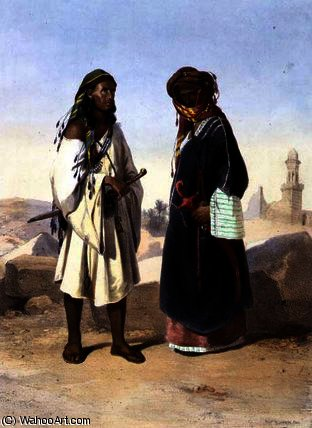 A Wahabi with an Azami Arab by Émile Prisse D'avennes (1807-1879, France) | Painting Copy | WahooArt.com