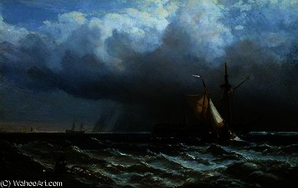 After the Storm by George Clarkson Stanfield (1793-1867, United Kingdom) | Painting Copy | WahooArt.com