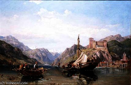 Angera on Lake Maggiore by George Clarkson Stanfield (1793-1867, United Kingdom)
