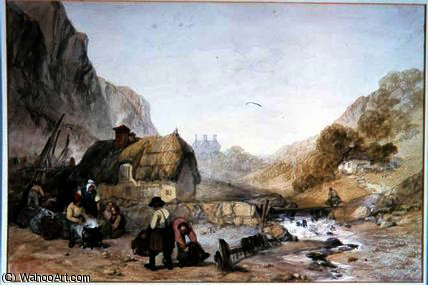 The lobster boilers by George Clarkson Stanfield (1793-1867, United Kingdom)