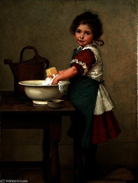 This Is the Way We Wash Our Clothes by George Dunlop Leslie (1835-1921, United Kingdom)