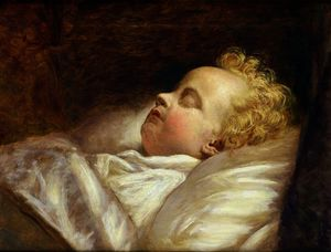 George Elgar Hicks - Young Frederick Asleep at Last