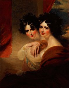 George Henry Harlow - Congratulations - portraits of two ladies
