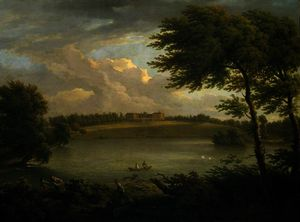 George Lambert - View of Copped Hall in Essex, from across the Lake