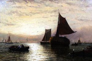 George Stanfield Walters - Evening shipping