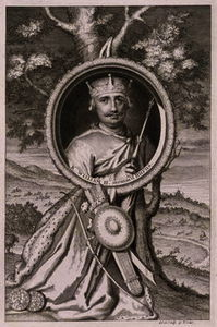 George Vertue - William II 'Rufus' (c.1056-1100) King of England from 1087, engraved by the artist (engraving)