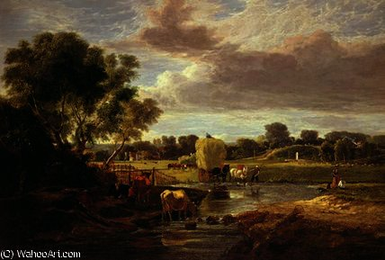 Trowse meadows by George Vincent (1796-1831, United Kingdom)