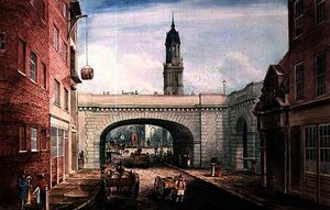Gideon Yates - Lower Thames Street with the Entrance to Fishmongers