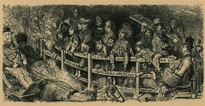 Paul Gustave Doré - Crowds watch carriage racing