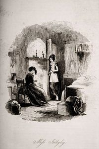 Order Reproductions | Mrs. Jellyby, illustration from `Bleak House` by Hablot Knight Browne (1815-1882, United Kingdom) | WahooArt.com