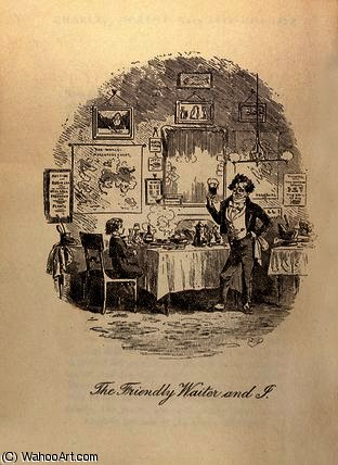 Buy Museum Art Reproductions | The Friendly Waiter and I` by Hablot Knight Browne (1815-1882, United Kingdom) | WahooArt.com