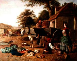 Henry Charles Bryant - The market cart