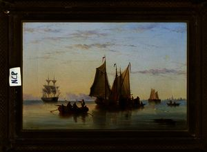 Henry Redmore - Fishing Boats and other Vessels on the Scheldt