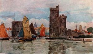 Herbert Menzies Marshall - Entrance to the Harbor, La Rochelle