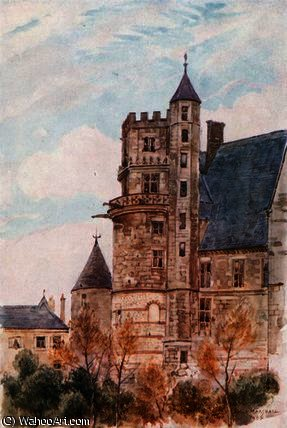 The House of Jacques Coeur, Bourges by Herbert Menzies Marshall (1841-1913, United Kingdom) | Oil Painting | WahooArt.com