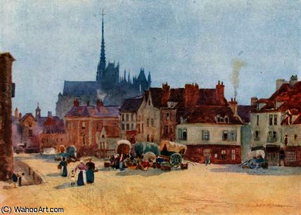 The place vogel, amiens by Herbert Menzies Marshall (1841-1913, United Kingdom)