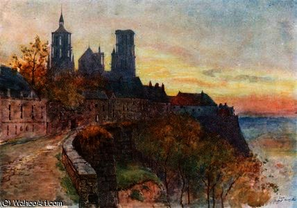 The ramparts, laon by Herbert Menzies Marshall (1841-1913, United Kingdom)