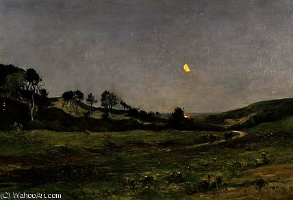 Evening over the Dunes of Equihen by Jean Baptiste Antoine Guillemet (1841-1918, France) | Art Reproduction | WahooArt.com