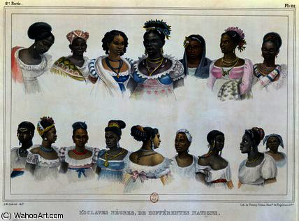 Black Slaves from Different Nations by Jean Baptiste Debret (1768-1848, France) | Painting Copy | WahooArt.com
