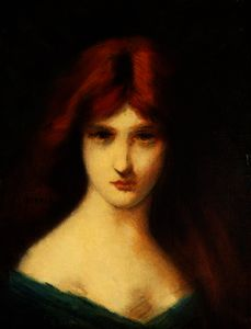 Jean Jacques Henner - Portrait of a Lady
