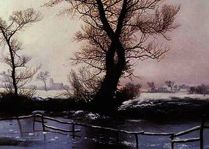 John Berney Ladbrooke - The frozen pool