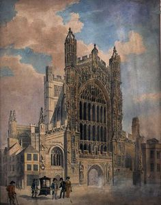 John Claude Nattes - Bath abbey