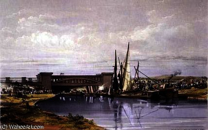 Railway Bridge over the Regent's Canal by John Cooke Bourne (1814-1896, United Kingdom)