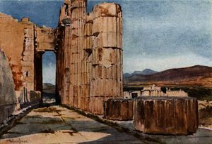 John Fulleylove - Vista of the Northern Peristyle