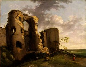 John Hamilton Mortimer - View of the West Gate of Pevensey Castle, Sussex