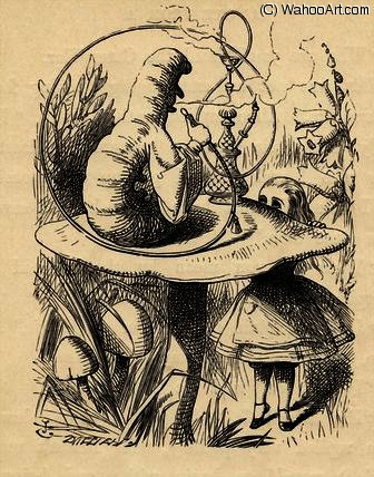 Advice from a Caterpillar by John Tenniel (1820-1914, United Kingdom)